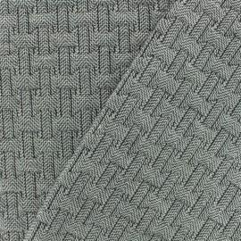 Tissu jacquard matelassé Ankara -noir/blanc x10cm
