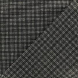 Tissu Jersey Punto di Roma Carlisle - noir x 10cm