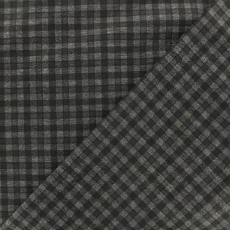 Punto di Roma Jersey Fabric - black Carlisle x 10cm