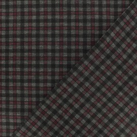 Punto di Roma Jersey Fabric - Red Carlisle x 10cm