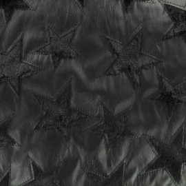 Fur and leather imitation fabric - black star x 10cm