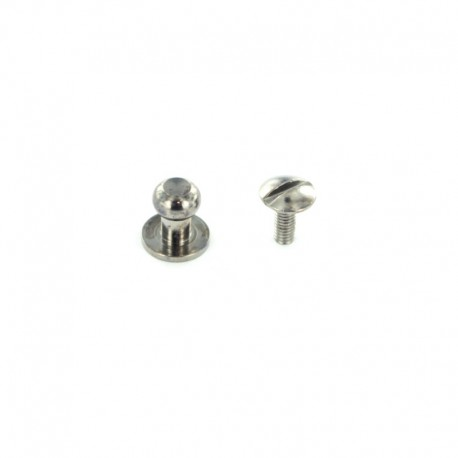 Head Button Stud Screwback - nickel-plated
