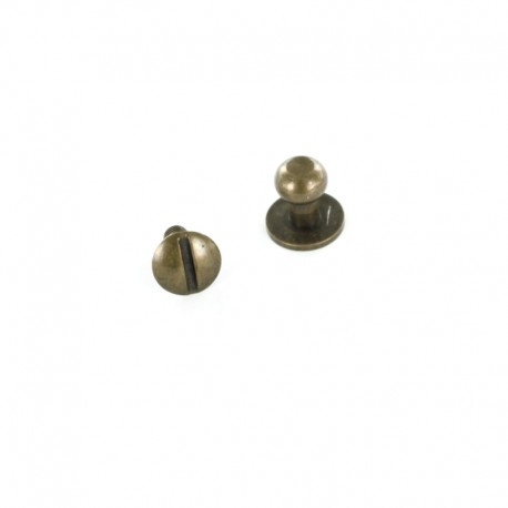 Head Button Stud Screwback - bronze