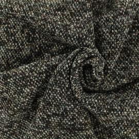 Tissu polyester maille lurex - noir x 10cm