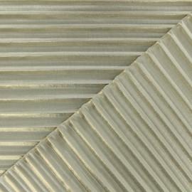 ♥ Coupon 200 cm X 145 cm ♥ Tissu polyester léger plissé - doré