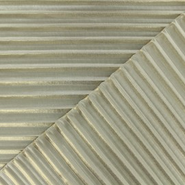 Light pleated crepe Fabric - nude x 50cm