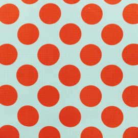 ♥ Coupon 40 cm X 140 cm ♥ Elastane Cotton fabric - Blue/red Dot