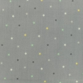 Makower UK cotton fabric Mini Multi star - Grey x 10cm