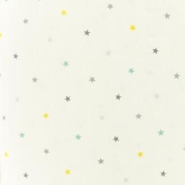 Makower UK cotton fabric Mini Multi star - white x 10cm