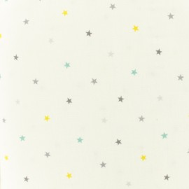 Tissu coton Makower UK Mini Multi star - blanc x 10cm