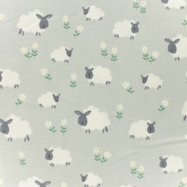 Makower UK cotton fabric Sheep - grey x 10cm