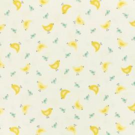 ♥ Coupon 230 cm X 110 cm ♥  Makower UK cotton fabric Chick - white