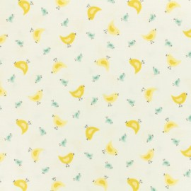 Makower UK cotton fabric Chick - white x 10cm
