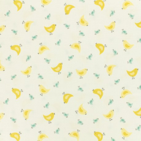 Tissu coton Makower UK Chick - blanc x 10cm