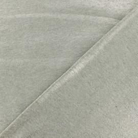 Tissu sweat léger - Argent x 10cm
