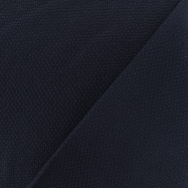 Waffle stitch cotton fabric - Chic Navy blue x 10cm