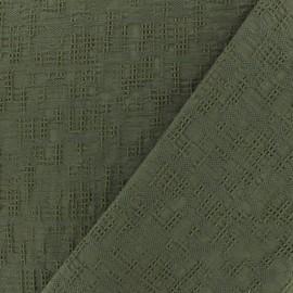 ♥ Coupon 350 cm X 130 cm ♥  Jacquard cotton fabric - khaki Archi
