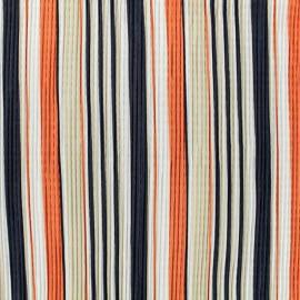 Pleated satin fabric - white x 10cm