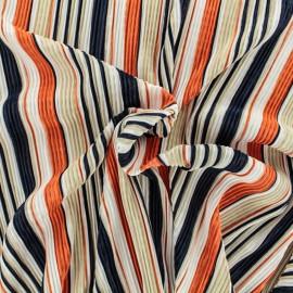 Tissu satin plissé - blanc x 10cm