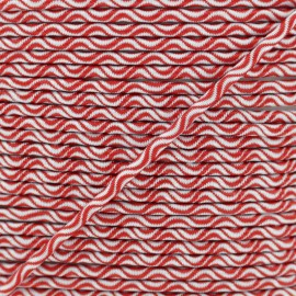 3 mm elastic cord - red Vaguelette x 1m