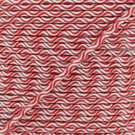 Cordon élastique Vaguelette 3 mm - rouge x 1m