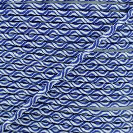 Cordon élastique Vaguelette 3 mm - bleu marine x 1m