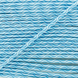 3 mm elastic cord - turquoise Vaguelette x 1m