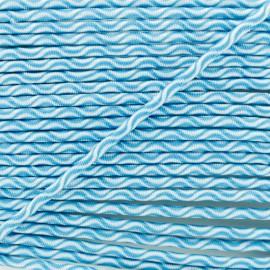 Cordon élastique Vaguelette 3 mm - turquoise x 1m