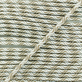 3 mm elastic cord - brown Vaguelette x 1m