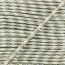 Cordon élastique Vaguelette 3 mm - marron x 1m