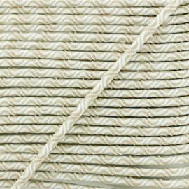 Cordon élastique Vaguelette 3 mm - beige x 1m