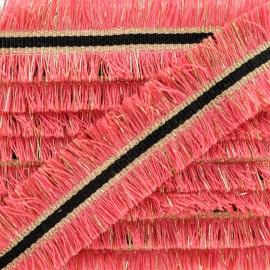 Double Fringe Braid Trimming - Coral NightChik x 1m