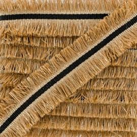 Double Fringe Braid Trimming - Chestnut NightChik x 1m