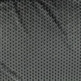 Tissu velours ras graphique - Bleu x10cm
