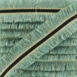 Double Fringe Braid Trimming - Celadon NightChik x 1m