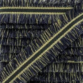Double Fringe Braid Trimming - Navy NightChik x 1m