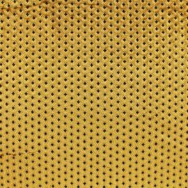Tissu velours ras graphique - doré x10cm