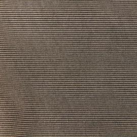Tissu polyester 500 raies - mordoré x 10cm