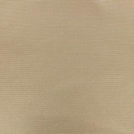 Tissu polyester 500 raies - Nude irisé x 10cm