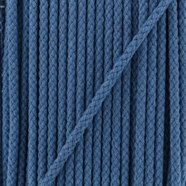 5 mm Braided Cord - Jeans Blue x 1m