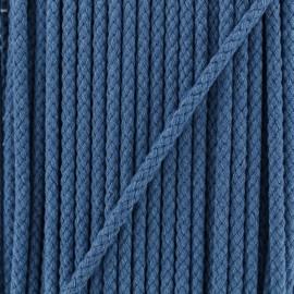 Cordon Tressé 5 mm - Bleu Jeans  x 1m