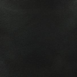 Tissu polyester 500 raies - Noir irisé x 10cm