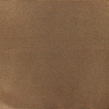 Tissu polyester 500 raies - Bronze x 10cm