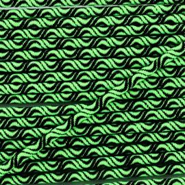 Cordon élastique Vaguelette 3 mm - vert fluo x 1m
