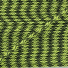 Cordon élastique Vaguelette 3 mm - jaune fluo x 1m