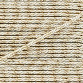 3 mm Elastic Cord - Gold/White Vaguelette x 1m