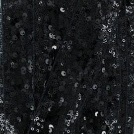Galon Paillettes Sequin en Folie 40 mm - Noir x 50cm