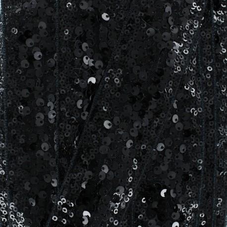 Galon Paillettes Sequin en Folie 40 mm - Noir x 50cm