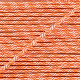 Cordon élastique Vaguelette 3 mm - orange fluo x 1m