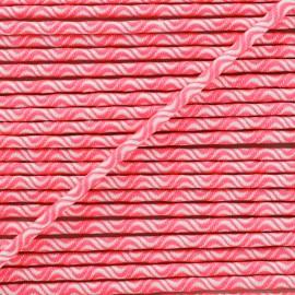 Cordon élastique Vaguelette 3 mm - rose fluo x 1m